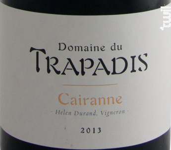 Cairanne Les Garrigues - Domaine du Trapadis - 2016 - Rouge