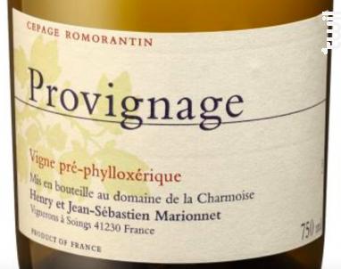 Provignage - Henry Marionnet - Domaine de La Charmoise - 2016 - Blanc