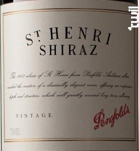 Saint Henri Shiraz - Penfolds - 2013 - Rouge