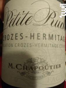 La petite Ruche - Maison M. Chapoutier - 2013 - Rouge