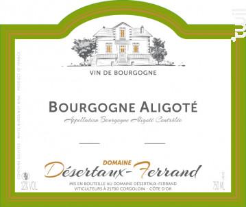 Bourgogne Aligoté - Domaine Désertaux-Ferrand - 2013 - Blanc