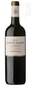 Réserve - Château Sainte Marie - 2017 - Rouge