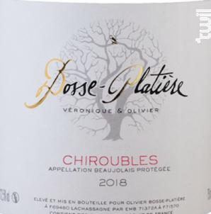 Chiroubles - Véronique & Olivier Bosse-Platière - 2018 - Rouge