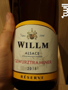 Gewurztraminer - Réserve - Domaine Willm - 2018 - Blanc