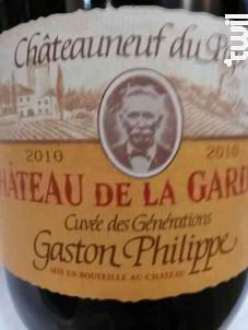 Cuvée des générations Gaston Philippe - Château de la Gardine - Domaine Brunel Père & Fils - 1999 - Rouge