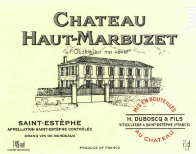 Château Haut-Marbuzet - Château Haut-Marbuzet - 1984 - Rouge