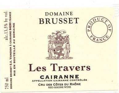 Les Travers - Domaine Brusset - 2017 - Rouge