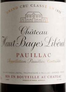 Château Haut-Bages Libéral - Château Haut-Bages Libéral - 1999 - Rouge