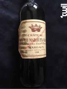 Château Bel Air - Marquis d'Aligre - Château Bel Air - Marquis d'Aligre - 1996 - Rouge