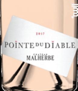 LA POINTE DU DIABLE Rosé - CHATEAU MALHERBE - BIO - 2017 - Rosé