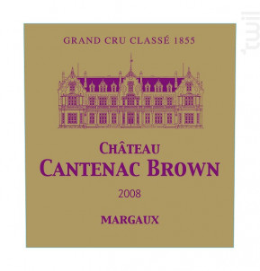Château Cantenac Brown - Château Cantenac Brown - 2008 - Rouge