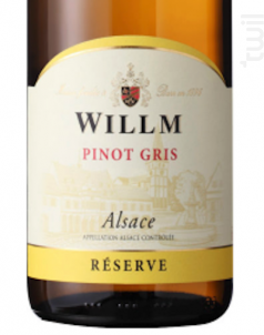 Pinot Gris - Domaine Willm - 2015 - Blanc