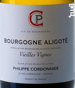 Bourgogne Aligoté Veilles Vignes - Domaine Philippe Cordonnier - 2016 - Blanc