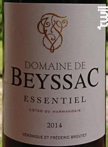 L'Essentiel - Domaine de Beyssac - 2014 - Rouge