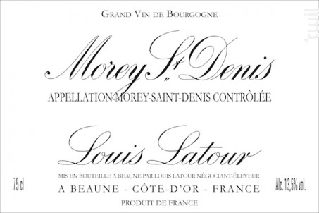MOREY SAINT DENIS - Maison Louis Latour - 2015 - Rouge