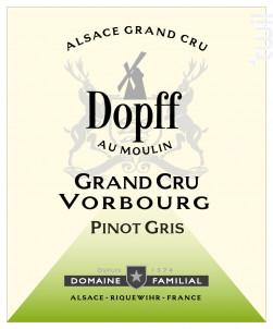 Pinot Gris Grand Cru Vorbourg - Dopff Au Moulin - 2014 - Blanc
