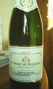 Crémant de Bourgogne - Domaine de la Bouronière - Non millésimé - Effervescent
