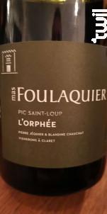 L'Orphée - Mas Foulaquier - 2018 - Rouge