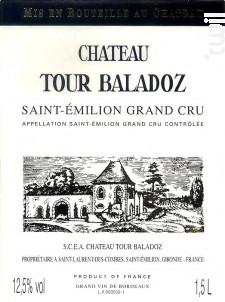 Château Tour Baladoz - Château Tour Baladoz - 2015 - Rouge