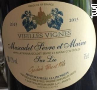 Muscadet Sèvre et Maine sur lie - Vieilles Vignes - Gadais Père et Fils - 2014 - Blanc