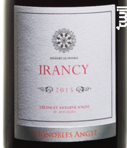 Irancy - Vignoble Angst - 2017 - Rouge
