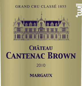 Château Cantenac Brown - Château Cantenac Brown - 2010 - Rouge