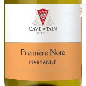 Première Note - Marsanne - Cave de Tain - 2017 - Blanc