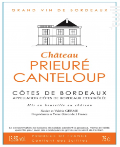 Château Prieuré Canteloup - Château Prieuré Canteloup - 2012 - Rouge
