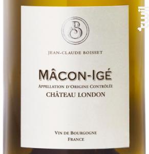 Mâcon-Igé Château London - Jean-Claude Boisset - 2016 - Blanc