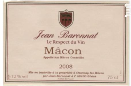 Mâcon - Baronnat Jean - 2015 - Rouge