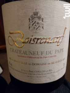 Cuvée Boisrenard - Domaine de Beaurenard - 2015 - Rouge