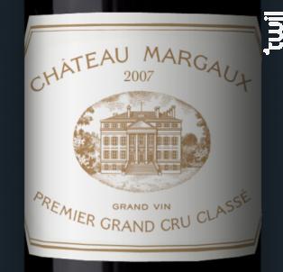 Château Margaux - Château Margaux - 2007 - Rouge