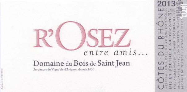 R'Osez entre amis - Domaine du Bois de Saint Jean - 2020 - Rosé