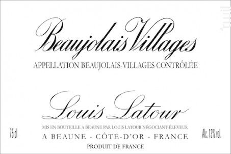 Beaujolais-Villages - Maison Louis Latour - 2016 - Rouge