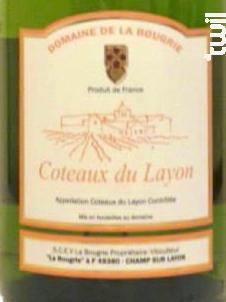 Coteaux du Layon - Domaine de la Bougrie - 2015 - Blanc