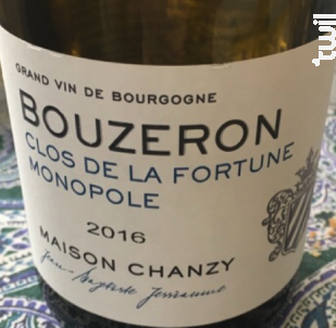 Bouzeron Clos de La Fortune Monopole - Maison Chanzy - 2016 - Blanc