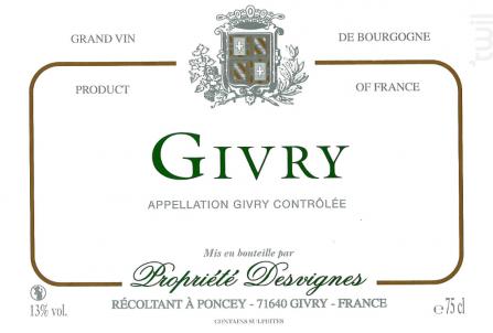 Givry - Propriété Desvignes - 2017 - Blanc