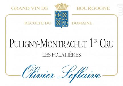 Puligny-Montrachet Premier Cru Les Folatières - Maison Olivier Leflaive - 2013 - Blanc