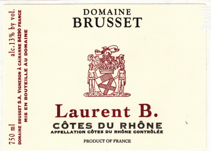 Laurent B. - Domaine Brusset - 2018 - Rouge
