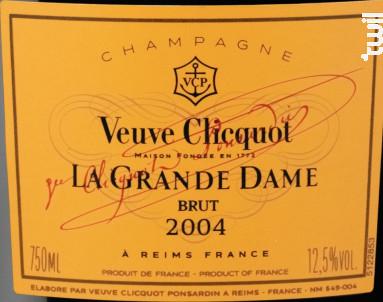 La Grande Dame Brut - Veuve Clicquot - 2004 - Effervescent
