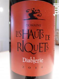 Diablerie - Hauts de Riquets - 2016 - Rouge