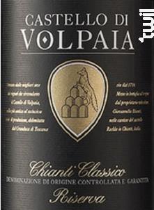 Chianti Classico Riserva DOCG - CASTELLO DI VOLPAIA - 2017 - Rouge