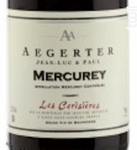 Mercurey Les Cerisières - Jean Luc et Paul Aegerter - 2015 - Rouge