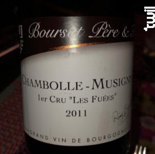 Chambolle-Musigny 1er Cru - Les Fuées. - Boursot Père et Fils - 2011 - Rouge