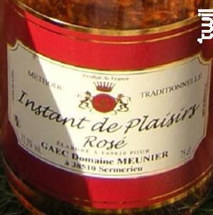 Instant de Plaisirs Rosé - Domaine Meunier - Non millésimé - Effervescent