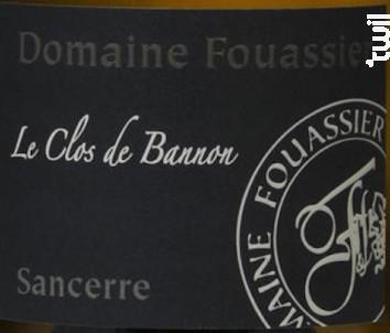 Le Clos de Bannon - Domaine Fouassier - 2017 - Blanc