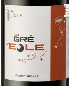 Au Gré d'Eole - Domaine La Toupie - 2017 - Rouge