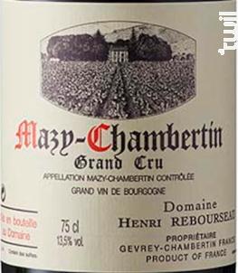 MAZY-CHAMBERTIN - Domaine Henri Rebourseau - 2016 - Rouge