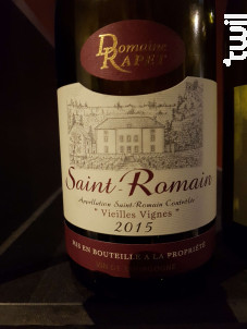 Saint-Romain - Domaine Rapet François & Fils - 2017 - Rouge