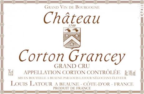 Château Corton Grancey Grand Cru - Maison Louis Latour - 2010 - Rouge